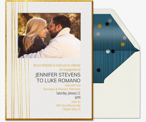 Elegant Engagement Invitation