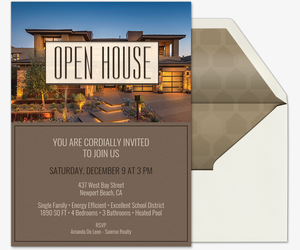 emblem box open house Invitation