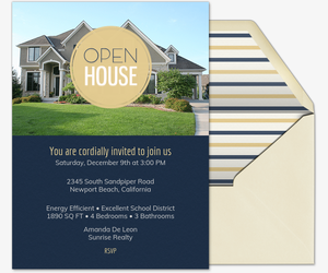 Emblem Circle Open House Invitation