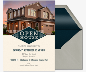 Emblem Diamond Open House Invitation