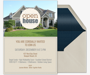 Emblem Wavy Circle Open House  Invitation