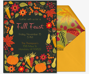 Fall Harvest Thanksgiving Invitation
