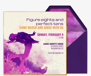 Figure Eights Invitation