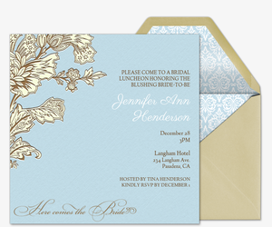 French Floral Invitation