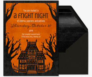 Free online halloween costume party invitations evite fright night invitation solutioingenieria Choice Image