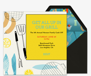 Gather at the Grill Invitation