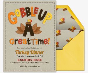 Gobble Up A Good Time Invitation