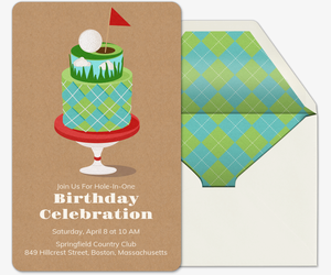 Golf Cake Invitation