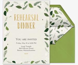Free rehearsal dinner invitations evite green rehearsal dinner invitation maxwellsz