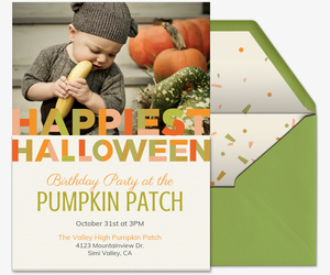 Halloween Color Block Invitation