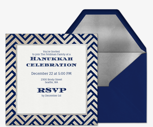Hanukkah Zigzag Invitation