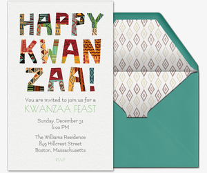 Happy Kwanzaa Invitation