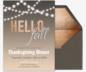 Hello Fall Invitation