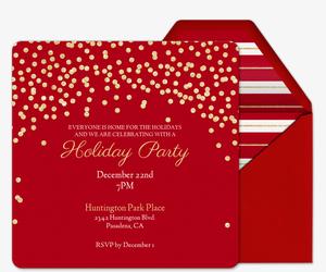 holiday sparkle invitation