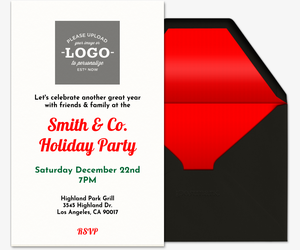 Holiday Upload Logo Invitation