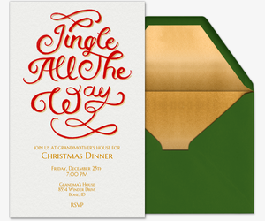 Jingle All The Way Type Invitation