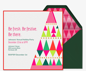 Modern and Merry Invitation