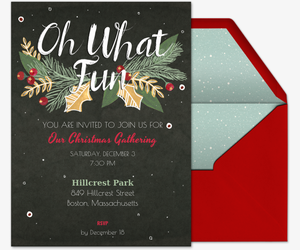 Christmas white elephant ugly sweater party invitations evite oh what berry fun invite invitation stopboris Gallery