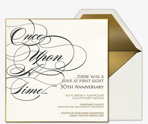 Free online wedding anniversary invitation wrsvp tracker evite once upon a time invitation stopboris Images
