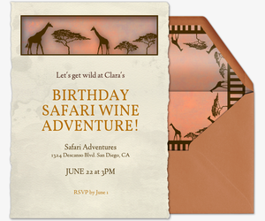 out of africa invitation