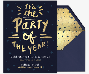 New year 39 s eve party invitations for New year invite templates free