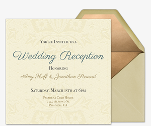 Online wedding invitations with rsvp tracking evite queen anne invitation stopboris Image collections