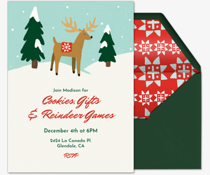 Reindeer Games Invitation