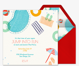 Jump Into Fun Invitation