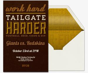 Tailgate Harder Invitation