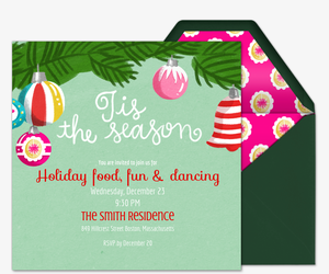 Tis' the Season Branches Invite Invitation