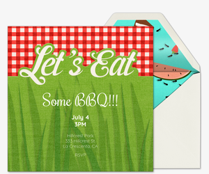 Let's Eat Invitation