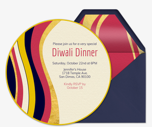 Waves of Gold Invitation