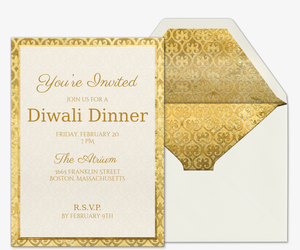 Online diwali party invitations evite wined and dined invitation stopboris Gallery