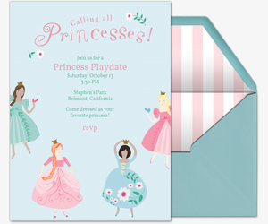 Calling All Princesses Invitation