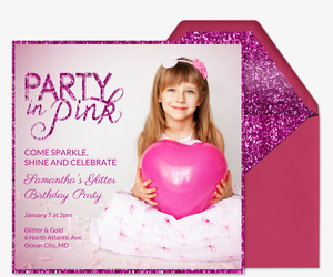 Party in Pink Invitation