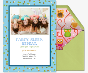 Party Sleep Repeat Invitation