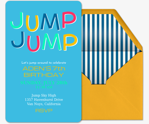 Free birthday invitations send online or by text evite jump jump invitation filmwisefo
