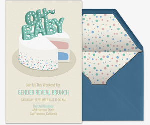Oh Baby Gender Reveal Invitation