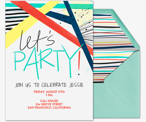 Let's Party Type Invitation
