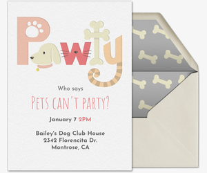 Pet Pawty Invitation