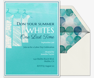 Summer Whites Invitation