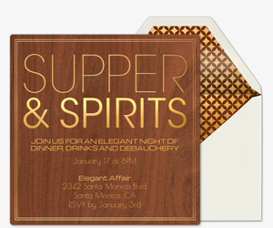 Supper Club Invitation