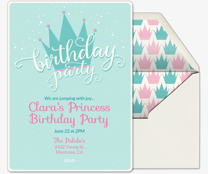 Tiara birthday Invitation