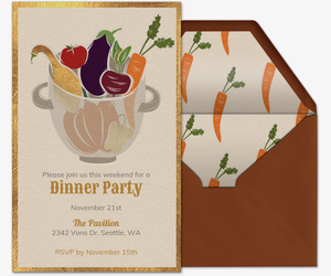 Vegetable Harvest Invitation