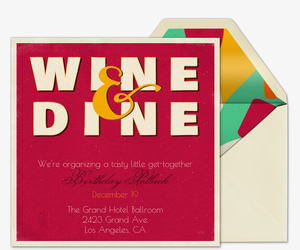 Wine and Dine Invitation
