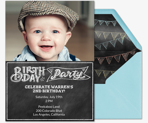 Party In Style Kid Invite Invitation