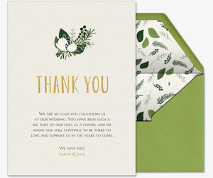 Green Thank You Invitation