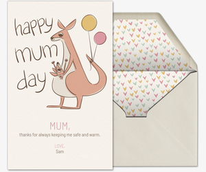 Kangaroo Mum Invitation