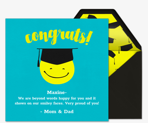 Smiley Congrats Invitation
