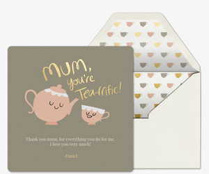Tea-rrific Mom Card Invitation